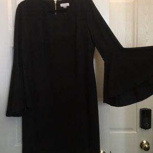 Calvin Klein cocktail dress with bell sleeves